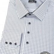 Pánská košile SLIM dl.rukáv, černá kostka