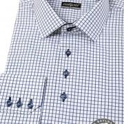 Pánská košile SLIM dl.rukáv, modrá kostka