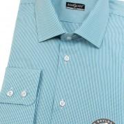 Pánská košile SLIM dl.rukáv, tyrkysová
