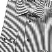 Pánská košile SLIM dl.rukáv, černo-bílá