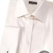 Pánská košile SLIM - krytá léga, MK, smetanová