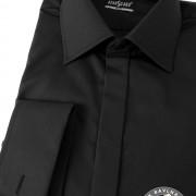 Pánská košile SLIM - krytá léga, MK, černá