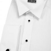 Pánská košile FRAKOVKA SLIM MK se sadou knoflíčků, v1-bílá