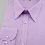 Pánská košile SLIM s dl.ruk., fialová