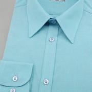 Pánská košile SLIM s dl.ruk., tyrkys