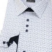 Pánská košile AVANTGARD SLIM dl. ruk., bílá/modrá