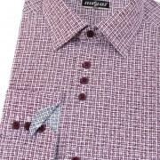 Pánská košile AVANTGARD SLIM dl. ruk., bílá/bordó