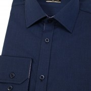Pánská košile SLIM s dl.ruk., modrá