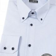 Pánská košile SLIM s dlouhým rukávem, modrá