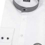 Pánská košile se stojáčkem SLIM dl.rukáv, bílá