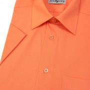 Pánská košile KLASIK s kr.ruk., v10-pomerančová