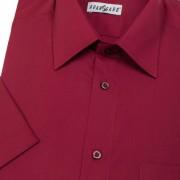 Pánská košile KLASIK s kr.ruk., v13-bordo