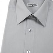 Pánská košile KLASIK s kr.ruk., v21-šedá