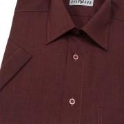 Pánská košile KLASIK s kr.ruk., v28-bordo melír