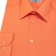 Pánská košile KLASIK s dl.ruk., v10-pomerančová