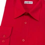 Pánská košile KLASIK s dl.ruk., v12-červená