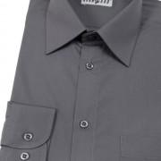 Pánská košile KLASIK s dl.ruk., v22-grafitová