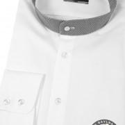 Pánská košile se stojáčkem KLASIK dl.rukáv, bílá