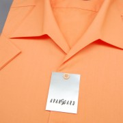 Pánská košile s rozhalenkou, kr.rukáv, v10-pomerančová