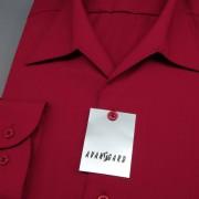 Pánská košile s rozhalenkou, dl.rukáv, bordó