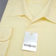 Pánská košile s rozhalenkou, dl.rukáv, sv.žlutá