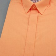 Chlapecká košile KLASIK s krytou légou, v10-pomerančová