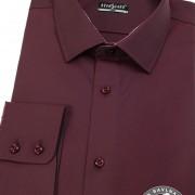 Pánská košile SLIM dl.rukáv, bordó