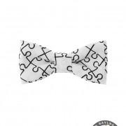 Motýlek MINI, bílá/puzzle