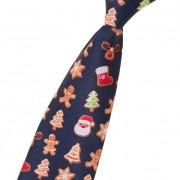 Chlapecká kravata, modrá/perníček