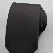 Kravata SLIM AVANTGARD, černá mat