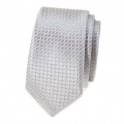 Kravata SLIM AVANTGARD, šedá