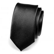 Kravata SLIM AVANTGARD, černá lesk