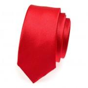 Kravata SLIM AVANTGARD, červená
