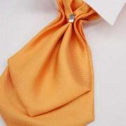 Plastron + kapesníček, oranžová