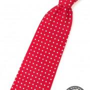 Chlapecká kravata, červená s bílým puntíkem
