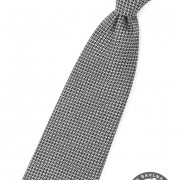 Chlapecká kravata, černo-šedá
