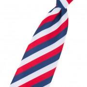 "Chlapecká kravata""trikolóra"", bílá/červená/modrá"