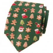 Kravata AVANTGARD LUX, zelená/perníček