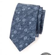 Kravata AVANTGARD LUX bavlněná, modrá