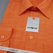 Pánská košile AVANTGARD LUX s dl. ruk., 6146-pomerančová