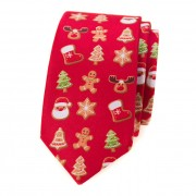 Kravata SLIM AVANTGARD LUX, červená/perníček