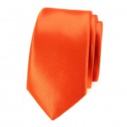 Kravata SLIM AVANTGARD LUX, oranžová