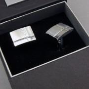 Manžetové knoflíčky AVANTGARD PREMIUM, stříbrná mat/lesk