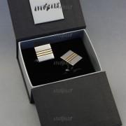 Manžetové knoflíčky AVANTGARD PREMIUM, stříbrná, zlatá
