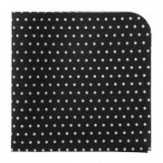 Kapesníček AVANTGARD LUX, černá s bílými puntíky