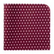 Kapesníček AVANTGARD LUX, bordó s bílými puntíky