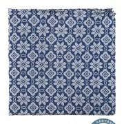 Kapesníček hedvábný PREMIUM, modrá/šedá