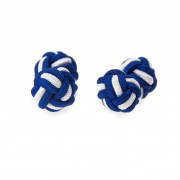 Knots - manžetové uzlíky AVANTGARD, modrá-bílá