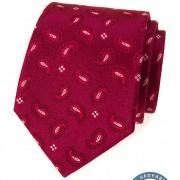 Kravata hedvábná v dárkové krabičce, bordó