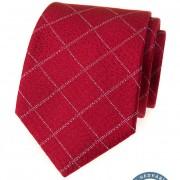 Kravata hedvábná v dárkové krabičce, červená